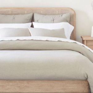 Potterybarn Belgian Flax Linen Sham King Pillowcas